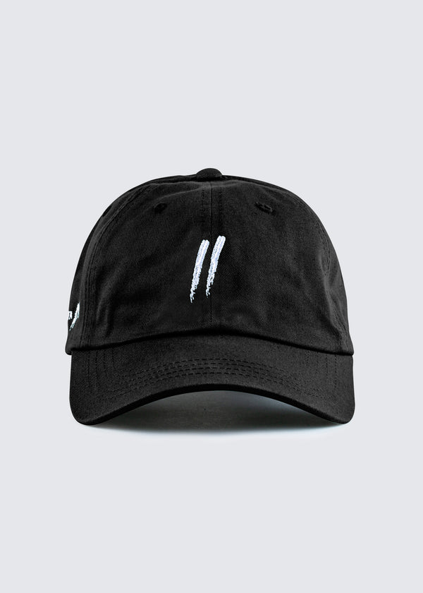 Signature Slash Dad Hat // Black