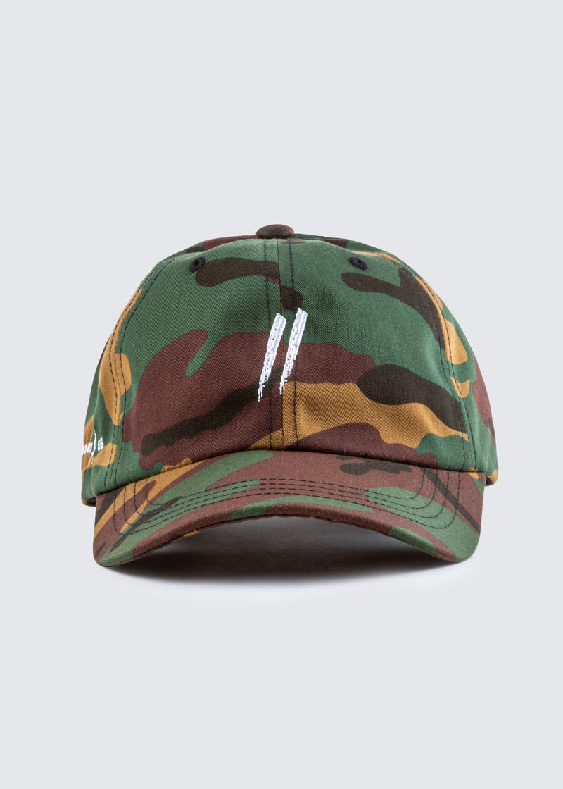 Signature Slash Dad Hat // Green Camo