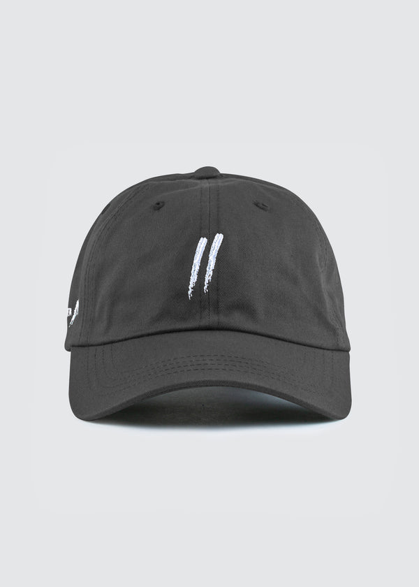 Signature Slash Dad Hat // Charcoal