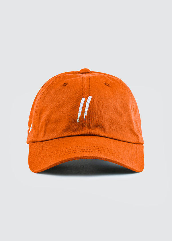 Signature Slash Dad Hat // Orange