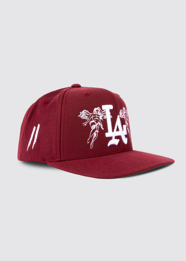 City of Angels Snapback // Burgundy