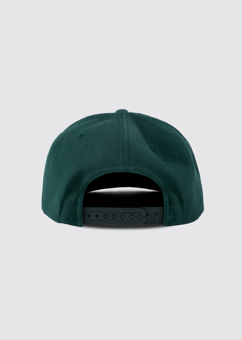 Big Apple Snapback // Forest Green