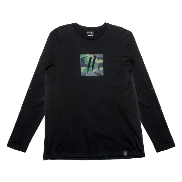Camo Box Longsleeve // Black