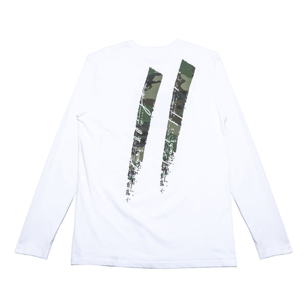 Camo Box Longsleeve // White