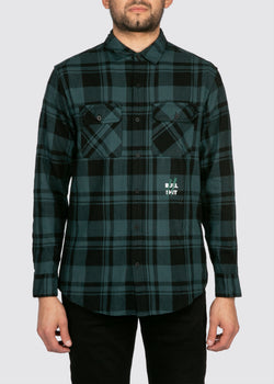 Sworn Oath Flannel // Hunter Green