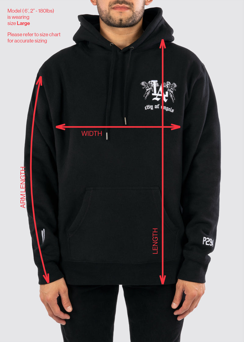 Sworn x P294 Reverse Weave Hoodie // Black