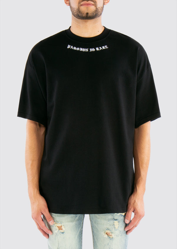 Passion is Rare Oversized Tee // Black