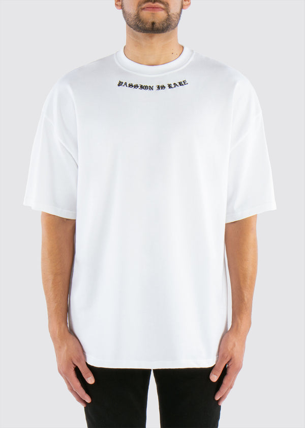 Passion is Rare Oversized Tee // White