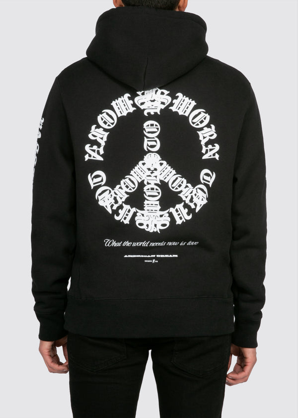 Passion & Peace Hoodie // Black