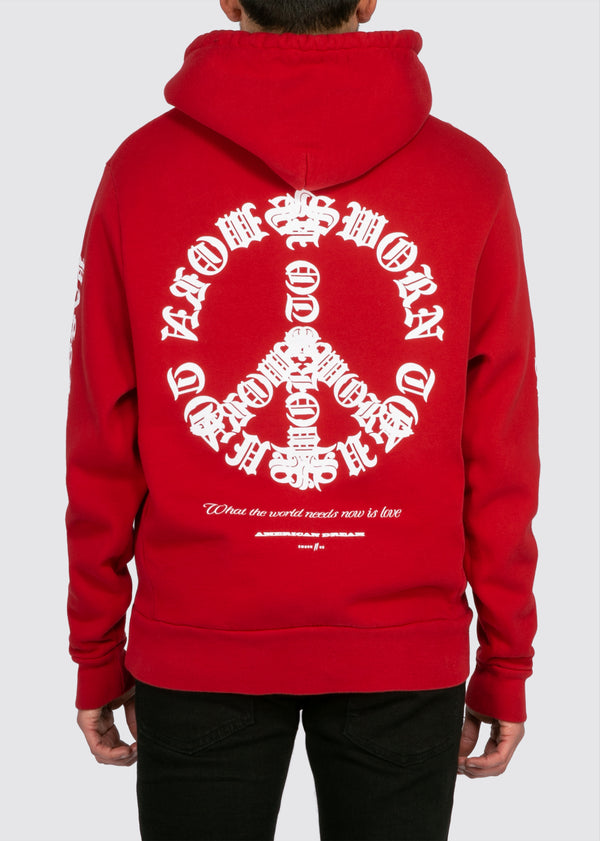 Passion & Peace Hoodie // Scarlet Red