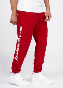 Passion & Peace Sweatpants // Scarlet Red