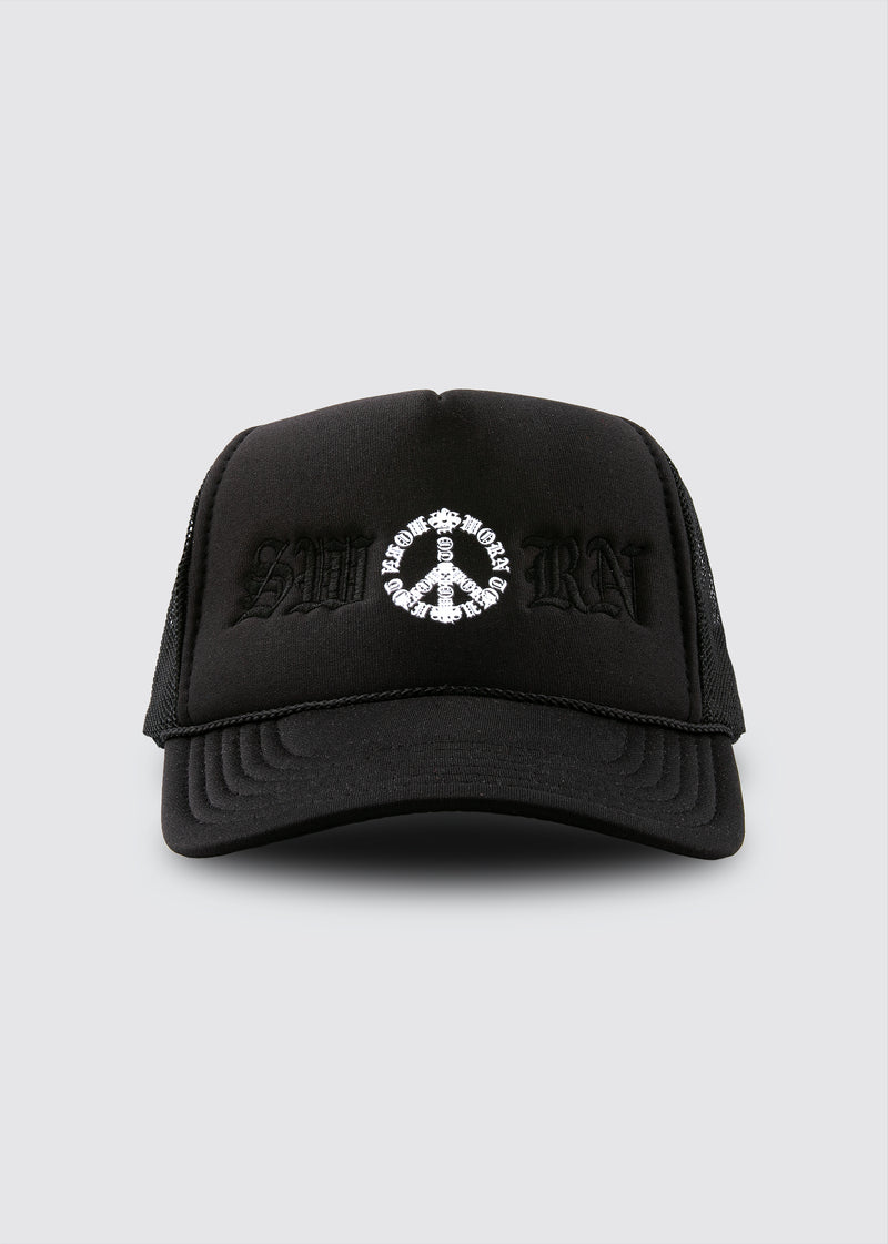 Peace Trucker Hat // Black