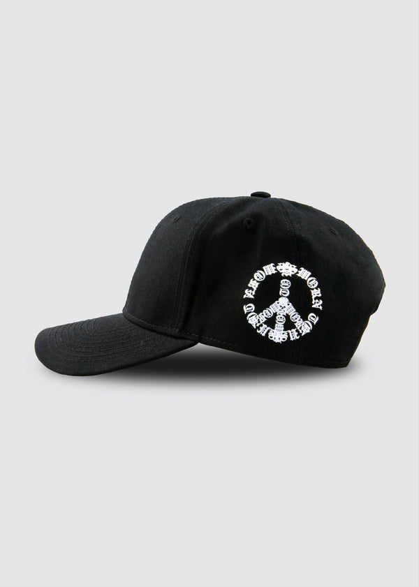Passion & Peace 6-panel Hat // Black