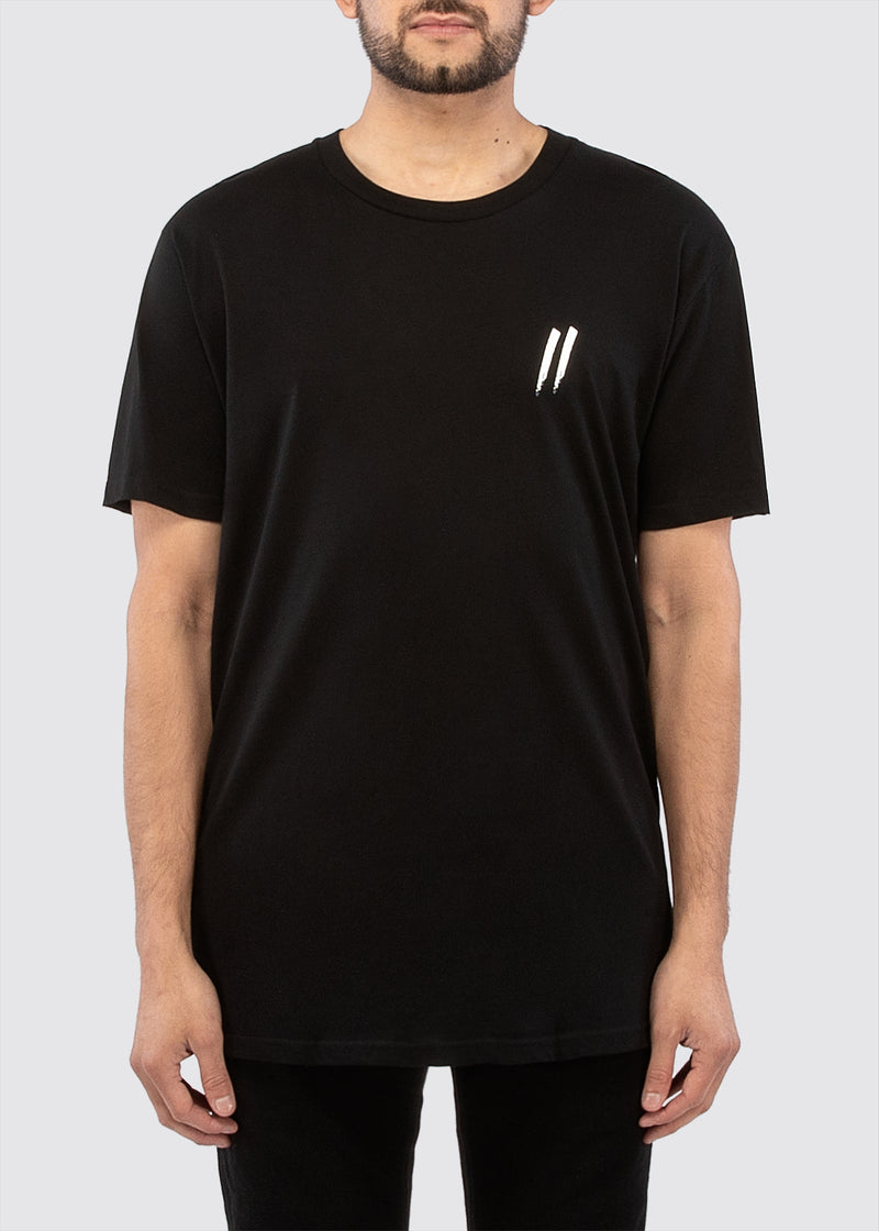 Pocket Slash Tee // Black