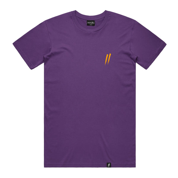 Pocket Slash Tee // Purple