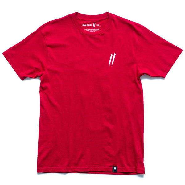 Pocket Slash Tee // Red