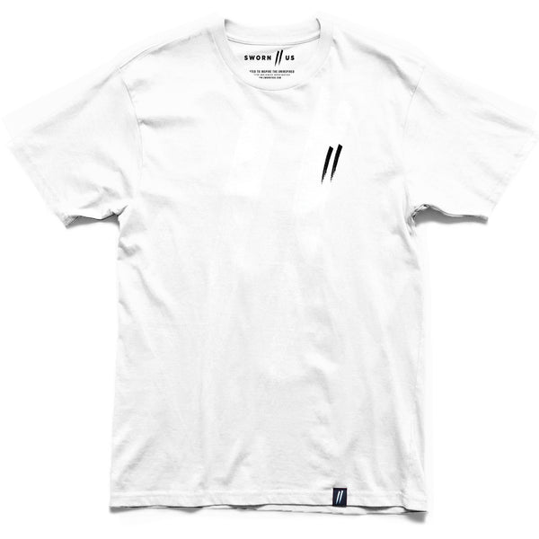 Pocket Slash Tee // White
