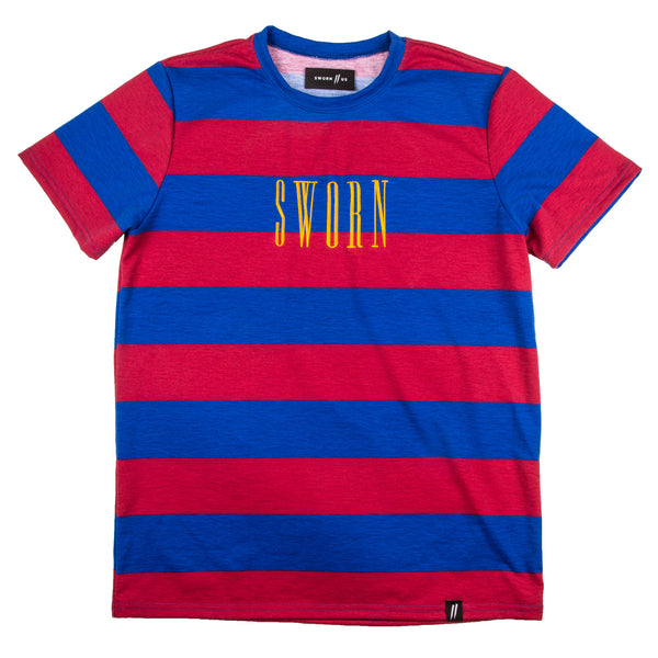 Bold Stripe Tee // Red & Blue