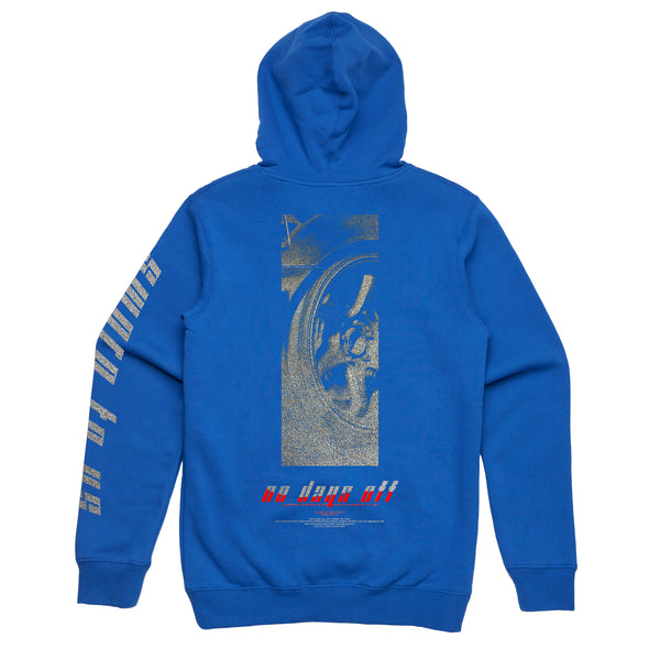 No Days off Hoodie // Royal