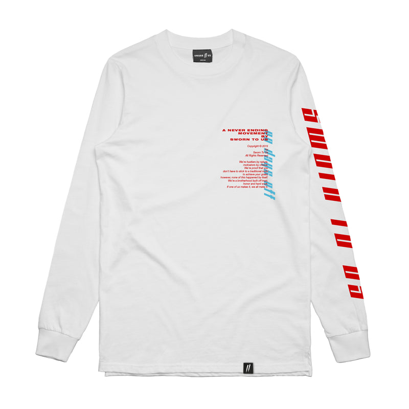 No Days Off Longsleeve Tee // White