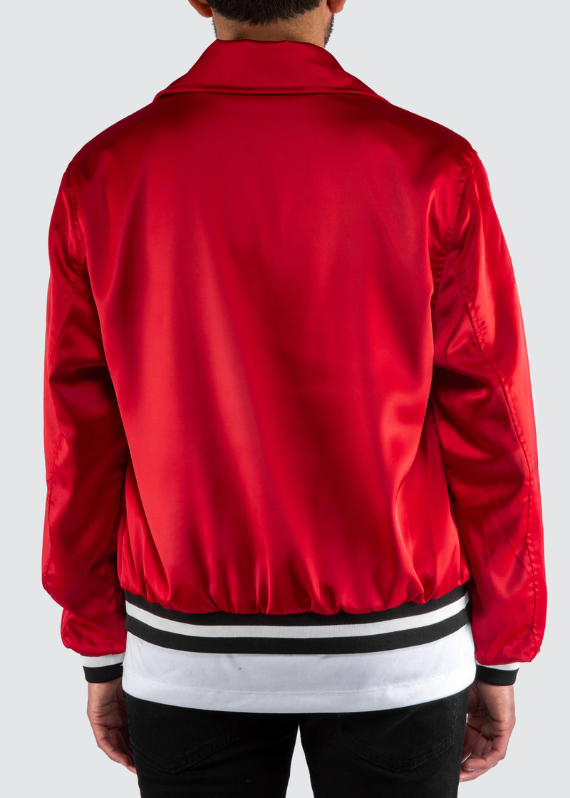 Warrior Bomber Jacket // Red