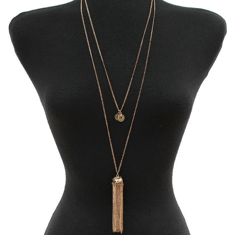 LEATHER STRAP NECKLACE SET
