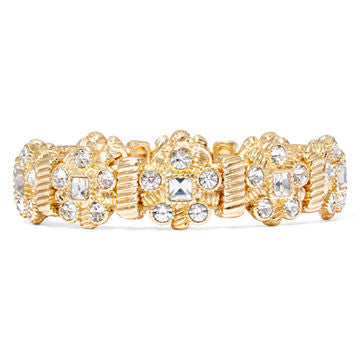 Crystal-Accent Gold-Tone Stretch Bracelet - SEXYCHIC BOUTIQUE™ - 1