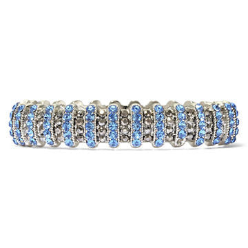 Blue Stone and Marcasite Stretch Bracelet - SEXYCHIC BOUTIQUE™