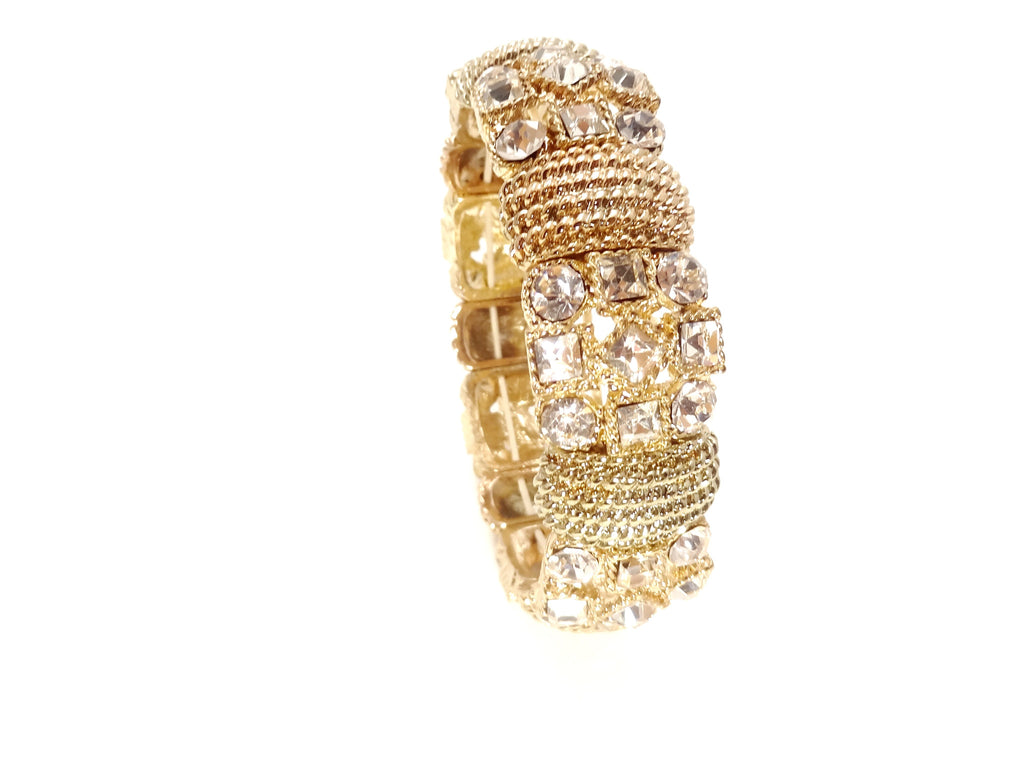 Crystal-Accent Gold-Tone Stretch Bracelet - SEXYCHIC BOUTIQUE™ - 2