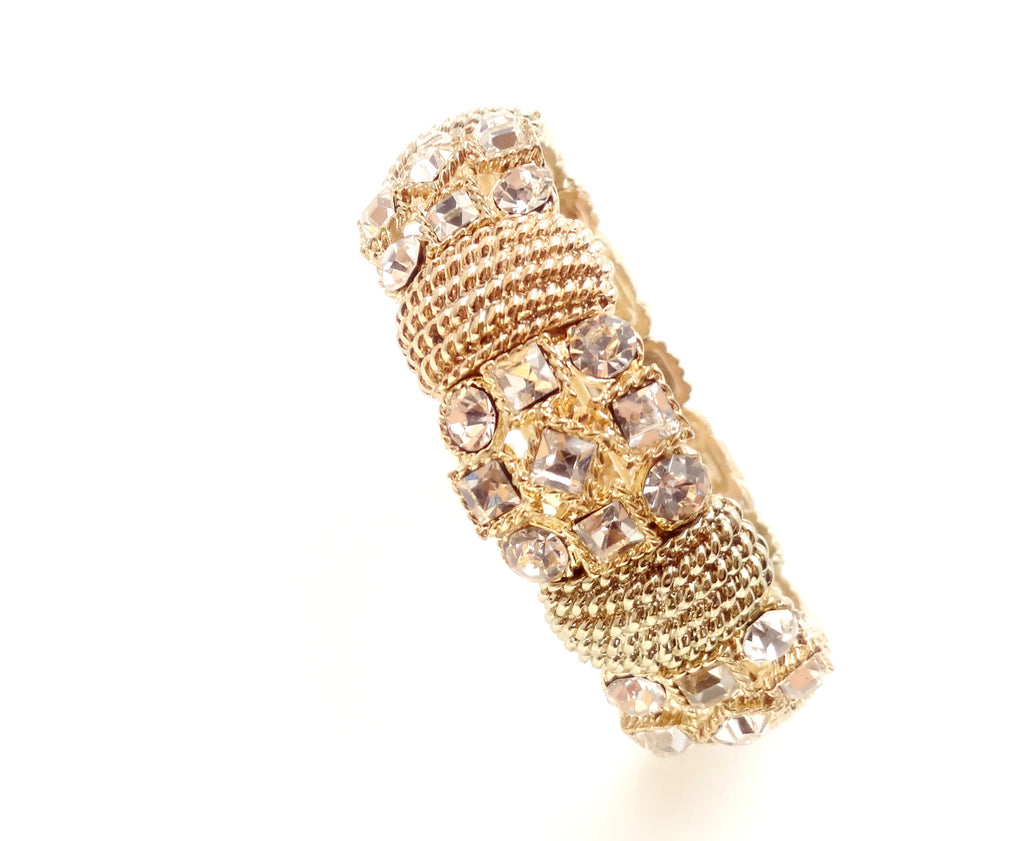 Crystal-Accent Gold-Tone Stretch Bracelet - SEXYCHIC BOUTIQUE™ - 4