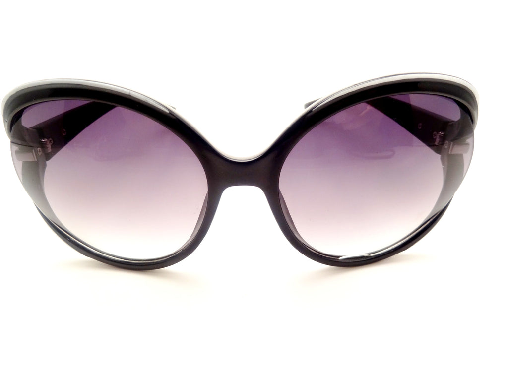 Oversize Wrap Multi Tone Frame Butterfly Sunglasses - SEXYCHIC BOUTIQUE™ - 1