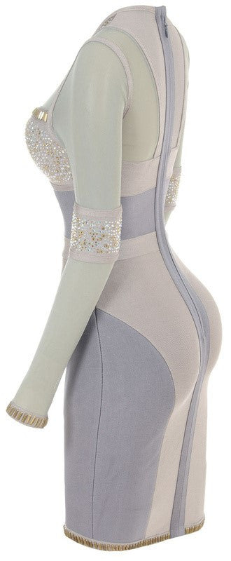 """JENNA"" Studded Sequins Evening Bandage Dress - SEXYCHIC BOUTIQUE™ - 4"
