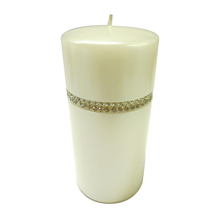 "6"" White Gem Pillar Candle - SEXYCHIC BOUTIQUE™"