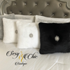 Eck™ White Lux Faux Fur Throw Pillow