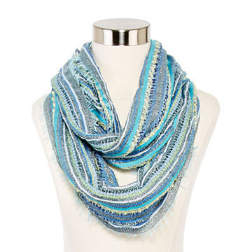 Metallic Striped Infinity Scarf - SEXYCHIC BOUTIQUE™