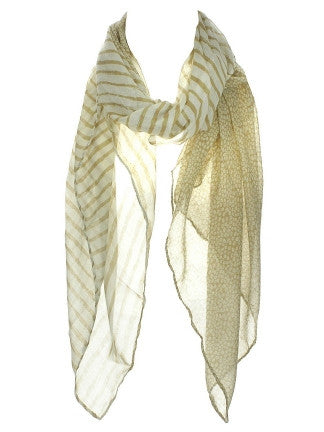 Thin & Large Stripe Dot Scarf - SEXYCHIC BOUTIQUE™ - 1