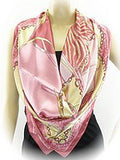 Soft Pink Square Silk Scarf - SEXYCHIC BOUTIQUE™ - 1