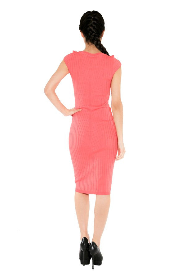 """Monica"" Lux knit Body-Con Midi Dress"