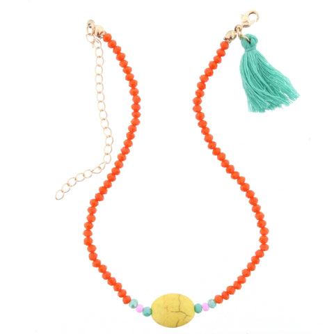 Jane Marie Beaded Rainbow Necklace