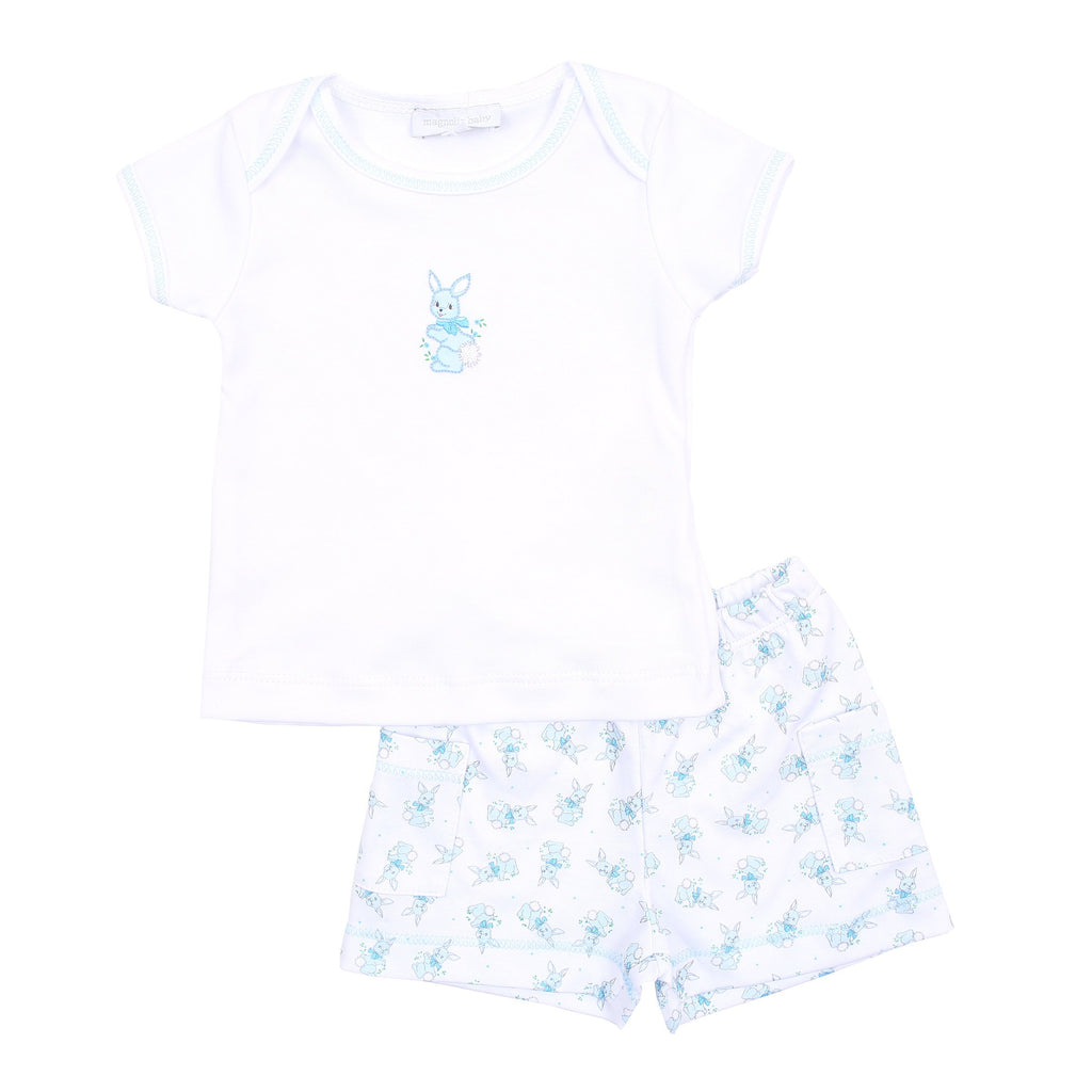 Magnolia Baby Vintage Bunnies Short Set