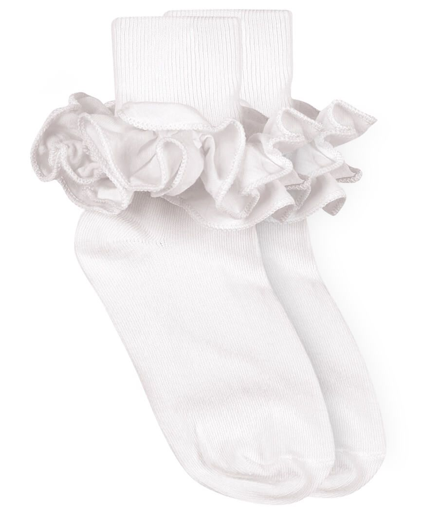 Jefferies Ruffle Sock White