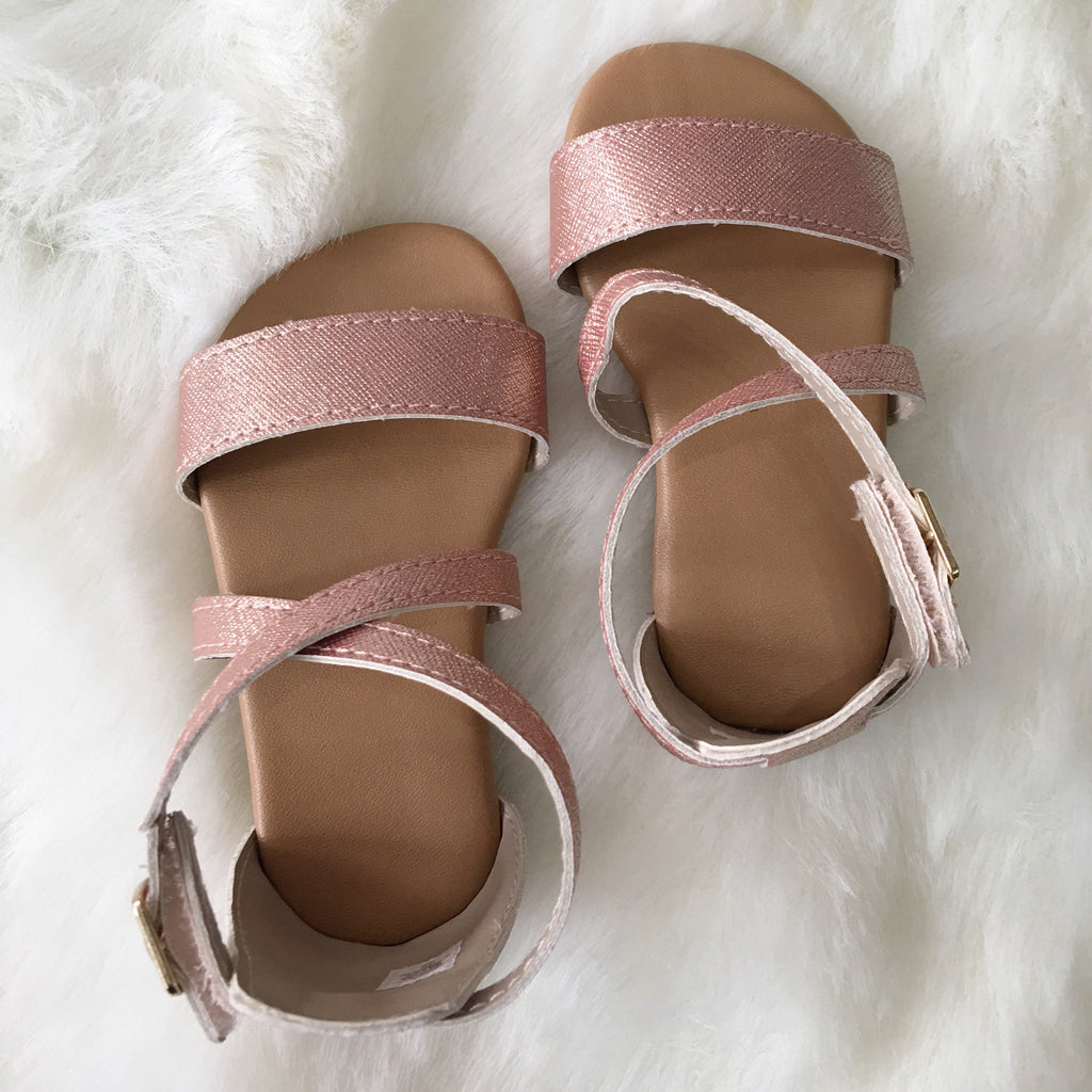 Trimfoot Rose Gold Sandal w/ Strap