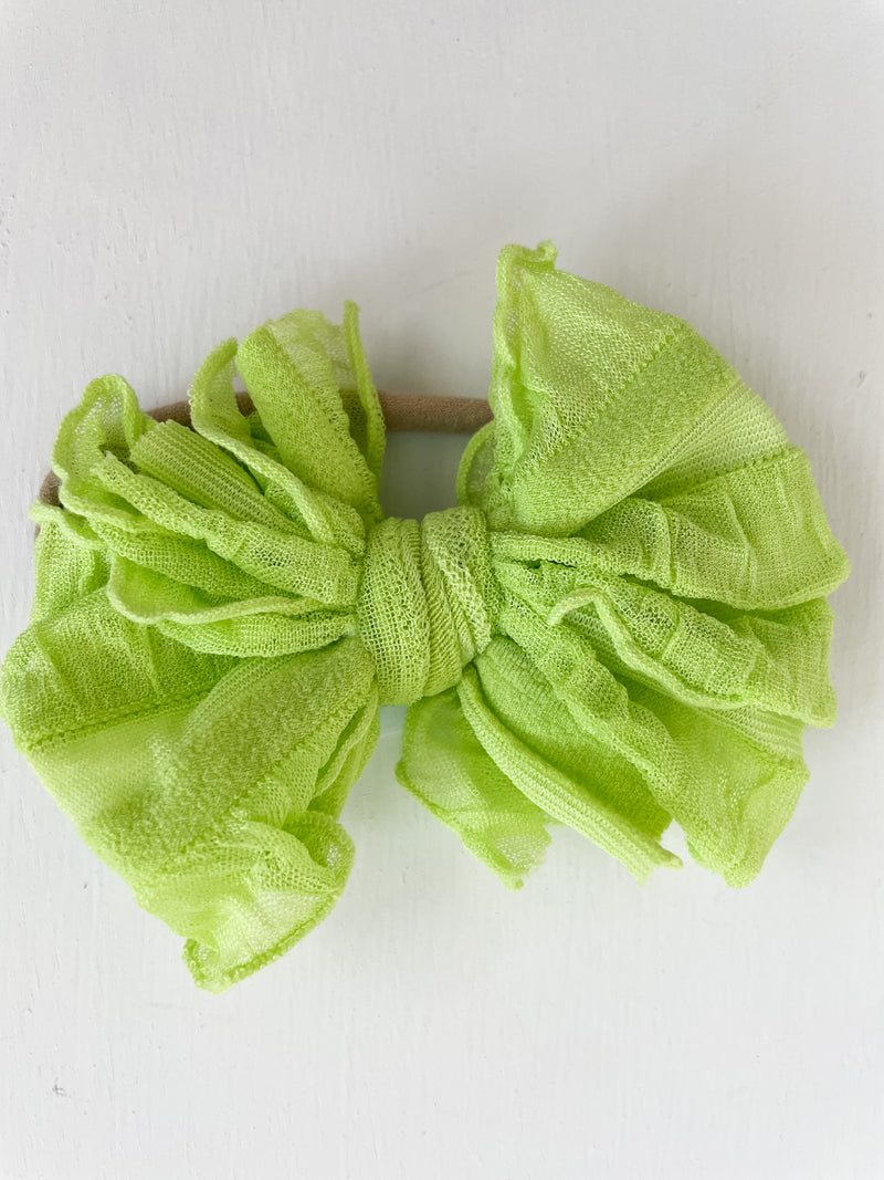 Mini Messy Headband Lemon Lime