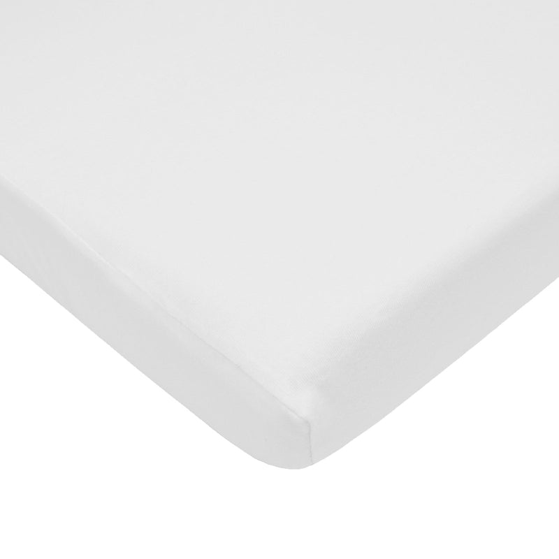 American Baby Company Jersey Crib Sheet, White