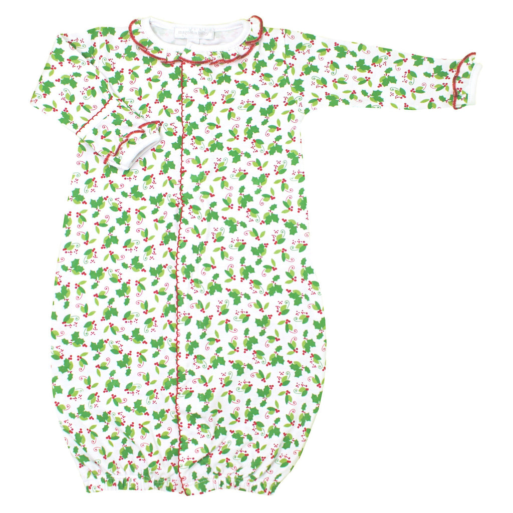 Magnolia Baby Happy Holly Days Ruffle Converter Gown