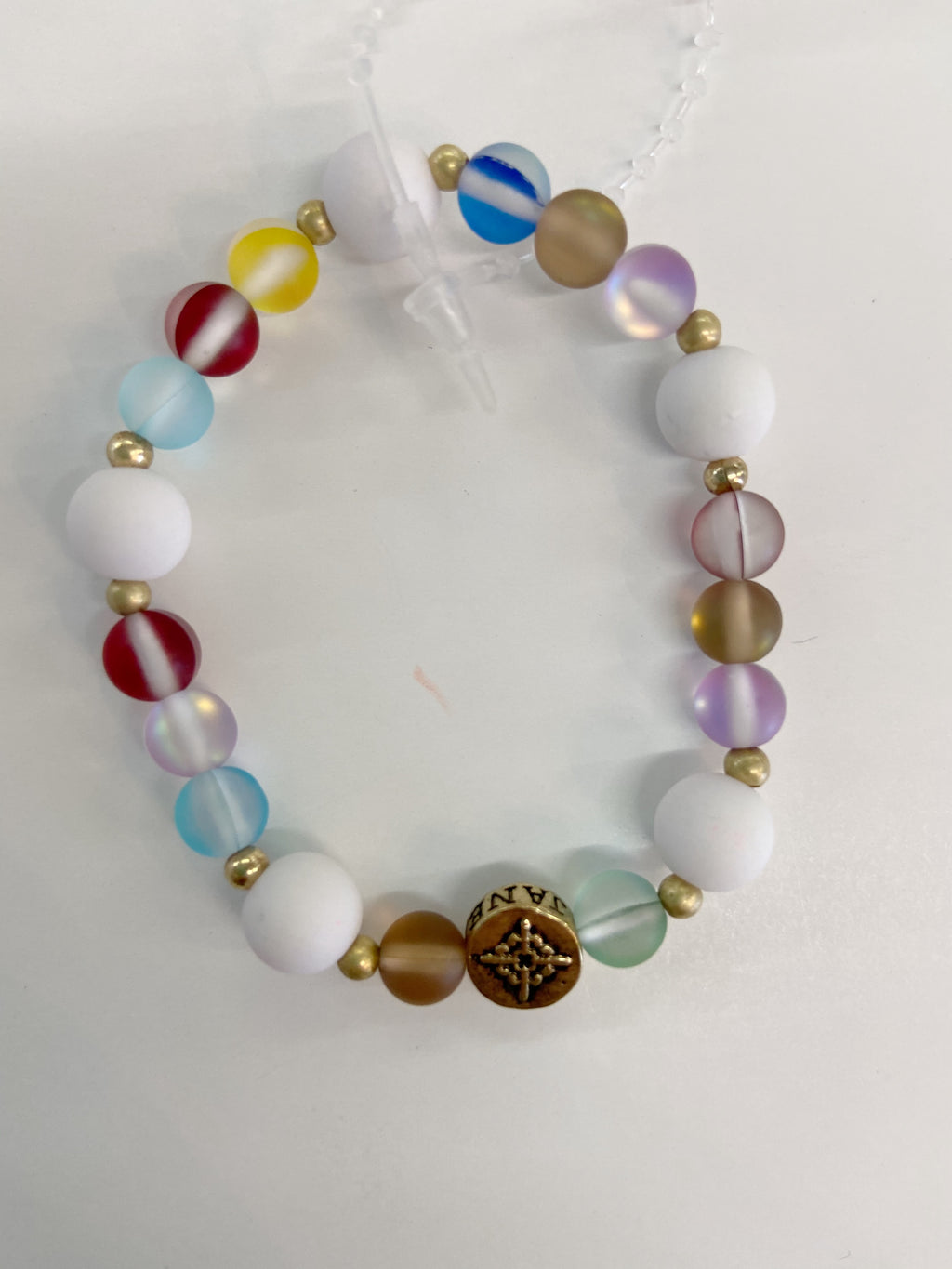 Jane Marie Faith Rainbow Opal Beaded Bracelet