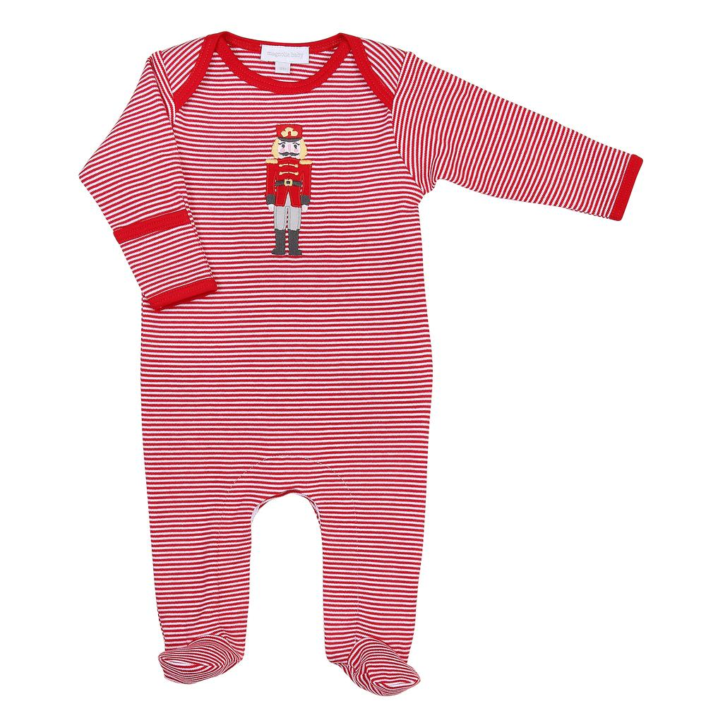 Magnolia Baby Nutcracker Applique Lap Footie