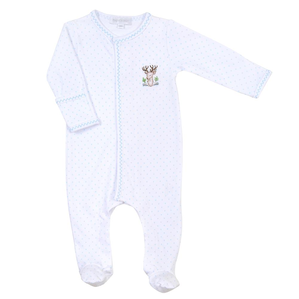 Magnolia Baby Buck Embroidered Footie
