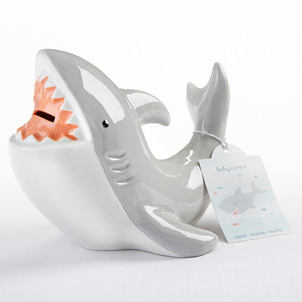 Baby Aspen Shark Ceramic Bank