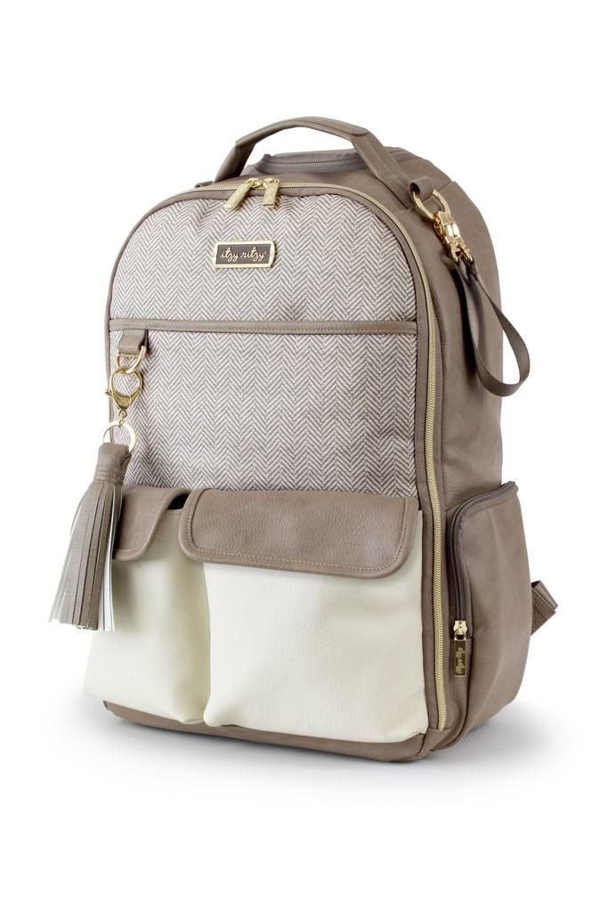 Itzy Ritzy Diaper Bag Backpack Vanilla Latte